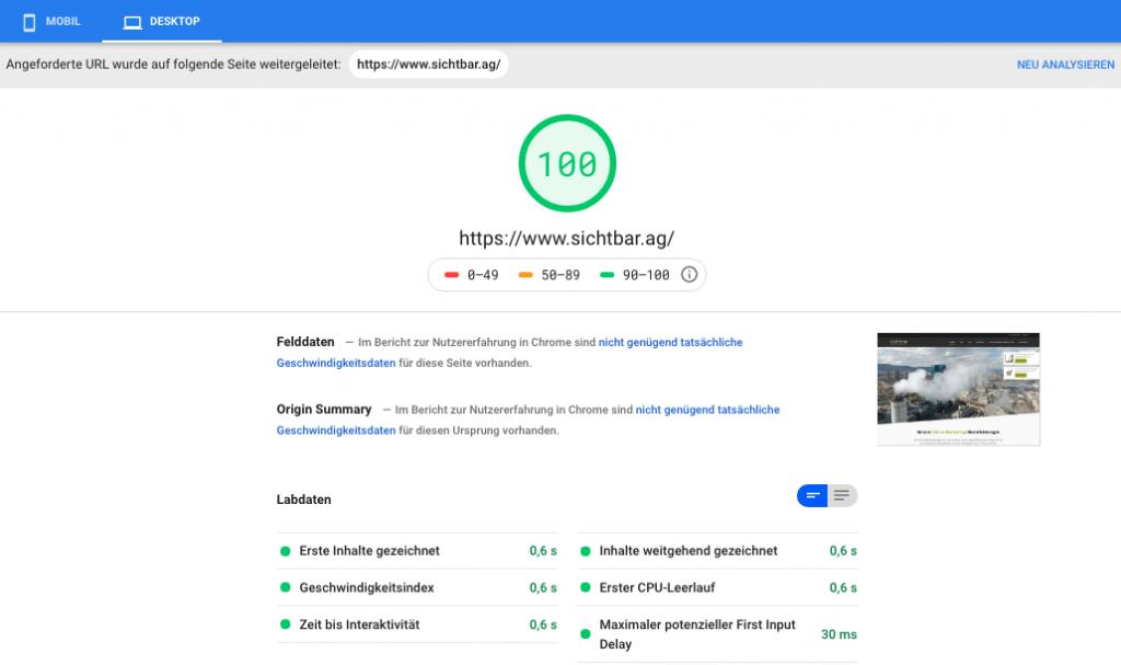 page speed performance wordpress desktop